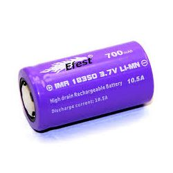 18350 Efest Purple IMR18350 V1 700mAh High Discharge Flat Top