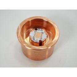 Copper heat sink for Maglite