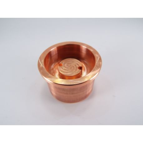 Copper heat sink for Maglite