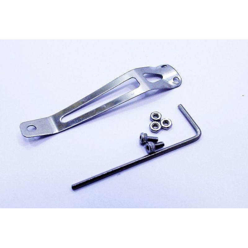 Pocket Clip (bolt on) Stainless