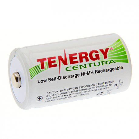 Tenergy Centura LSD 8000ma D cell Rechargeable Battery 2- Pack