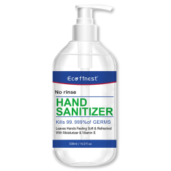 Hand Sanitizer Gel 500ml 16.9 fl.oz 75% Alcohol